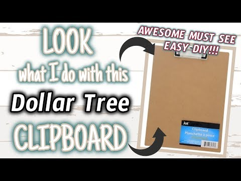 LOOK What I Do With This DOLLAR TREE CLIPBOARD | AWESOME MUST SEE DIY