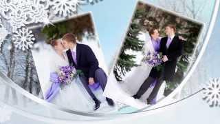 Свадебное слайд шоу из фотографий на заказ.