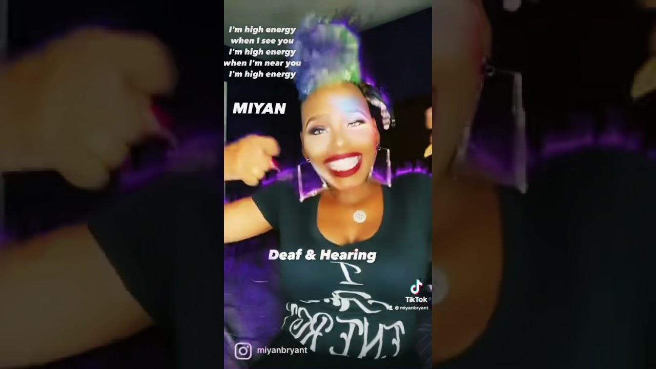 Miyan signing her TikTok Fire (I Am Energy). ⭐️👑💎🔥🔥🔥 - YouTube