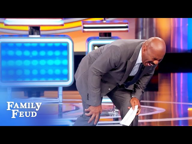 Hot star with bulging biceps? Wait, who?! Steve Harvey gives up! | Family Feud