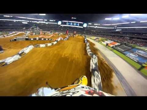 GoPro HD:  Jason Thomas Race - Arlington Monster Energy Supercross 2011
