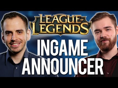 Wir sind ingame announcer für League of Legends! thumbnail