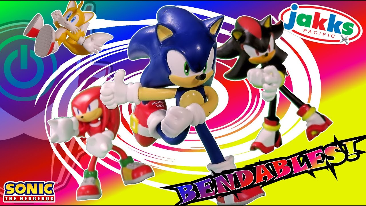 Jakks Pacific Sonic The Hedgehog Bendable Action Figures Series 1 Review Youtube
