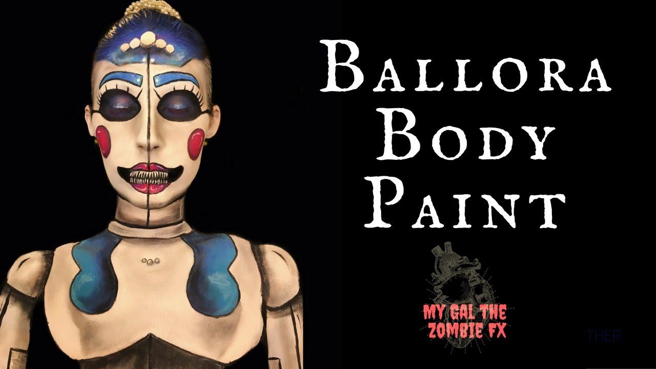 ballora fnaf body paint youtube