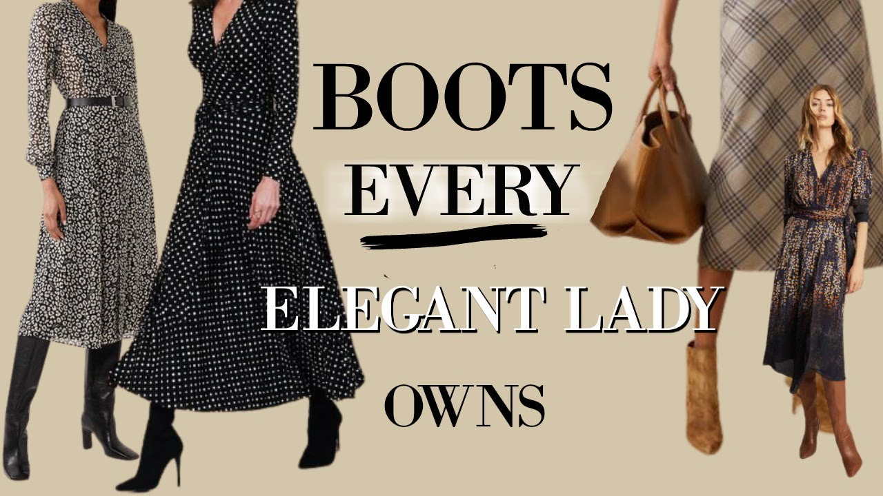 5 CLASSIC Boots for  Ladies *FALL* & *AUTUMN