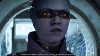 Mass Effect Andromeda Peebee romance with male Ryder part 1