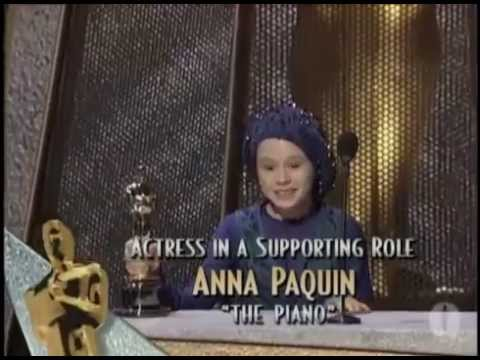 Anna Paquin winning Best Supporting Actress for 'The Piano' in 1994