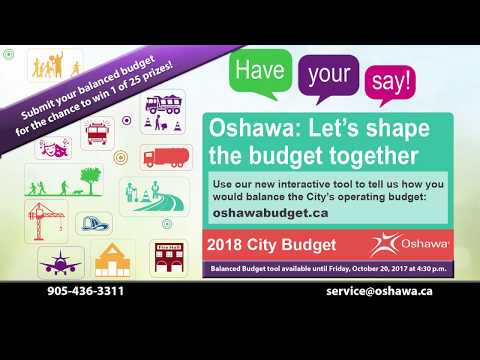 Oshawa's Balance the Budget Tool