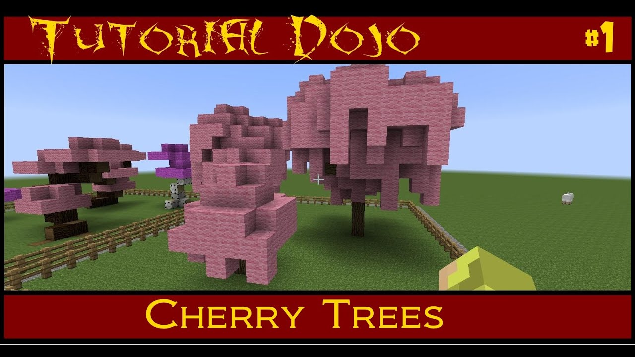 minecraft tutorial dojo ep 1 custom cherry trees