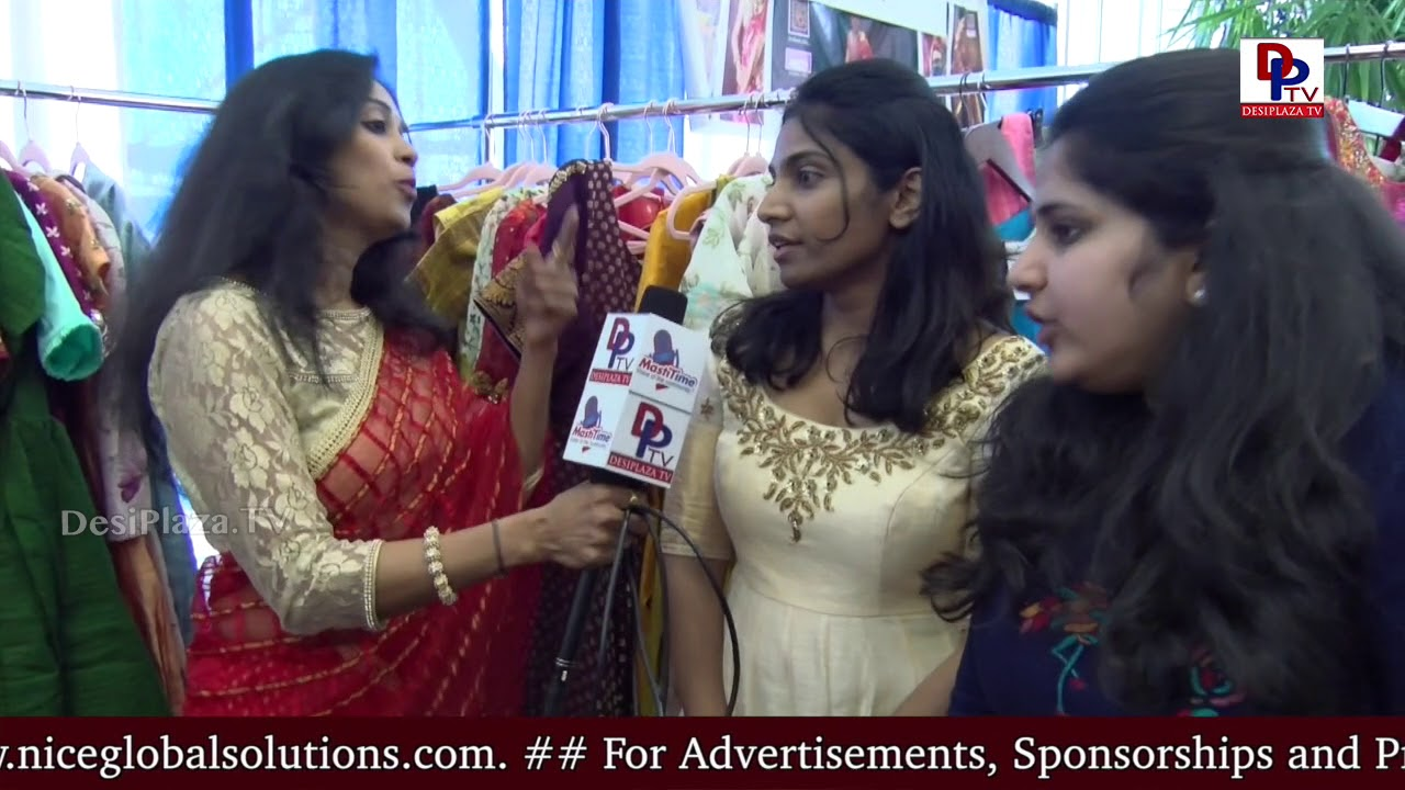 Ladies exclusive dress material sold at vendor booths at American Telugu Convention - Dallas, TX