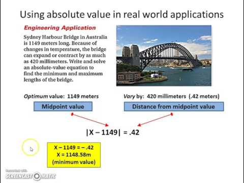 real life applications of absolute value