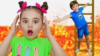 The Floor is Lava song | 동요와 아이 노래 | 어린이 교육 | Polina Fun