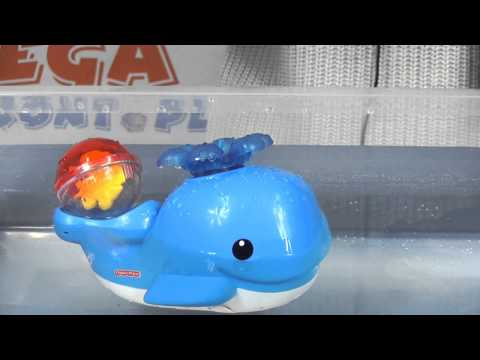 Brilliant Basics Spray 'N Lights Bath Whale / Wielorybek Do Kąpieli - Fisher Price - Mattel