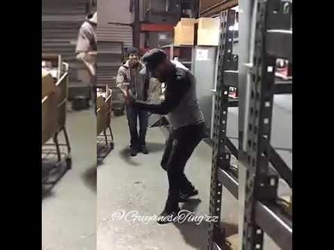 Spanish man dancing chutney music