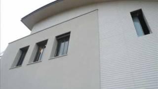 לוחות בטון מחורצים כחיפוי חוץ לבית מגורים  כפר שמריהו