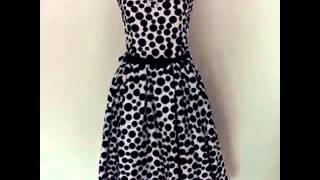 50's vintage rockabilly style polka dots dresses Thumbnail