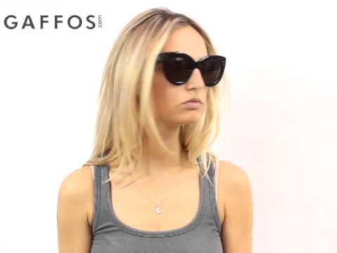 6b8f186be1f9a Celine CL 41050 807 Black Cat Eye Sunglasses Grey Lens - YouTube
