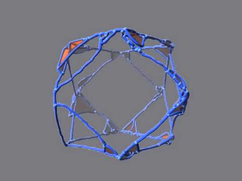 Atom lattice defects inside a compound material consisting of nickel and nickel aluminum alloy