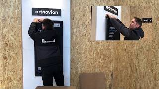 Artnovion Fixart Tube - Doble Vertical Panels Installation