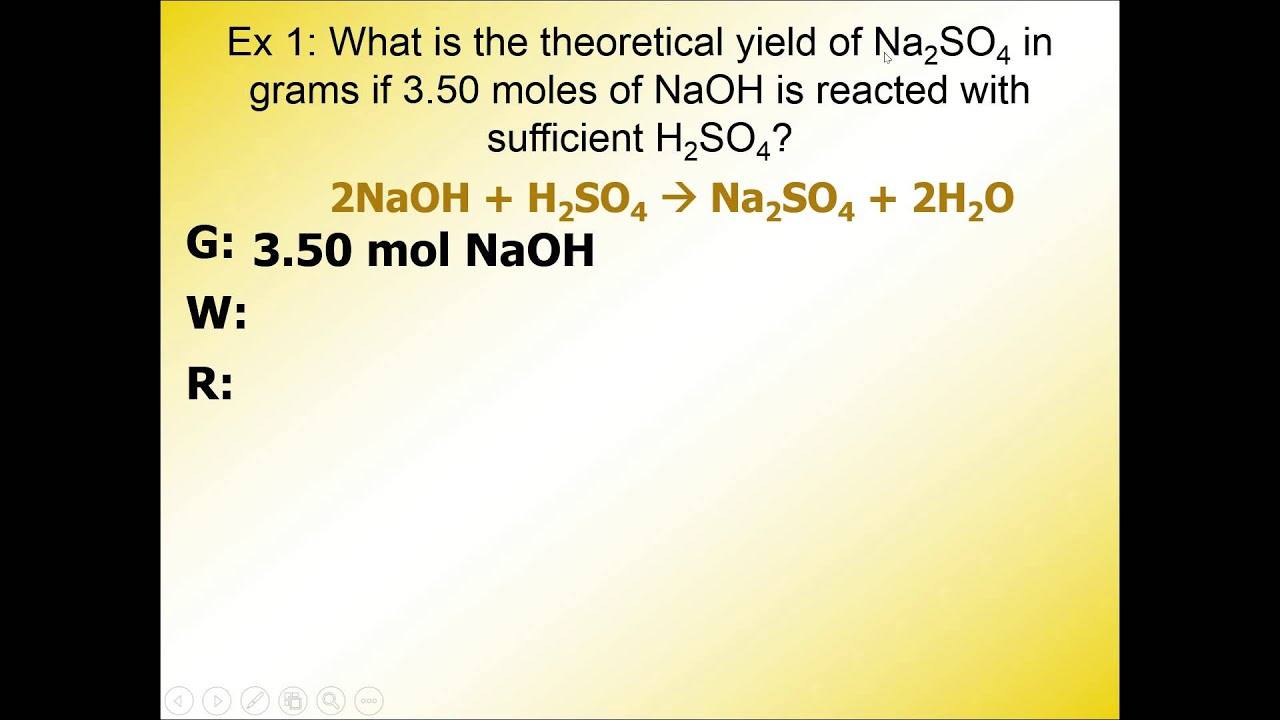 Theoretical Yield, Actual Yield, and Percent Yield Description + ...
