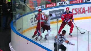 Radulov rocks Mozyakin hard in the corner