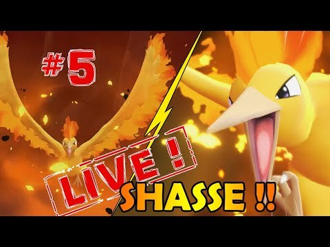 SHASSE AU SULFURA SHINY #5 DANS POKEMON LET'S GO !!! - NINTENDO SWITCH thumbnail
