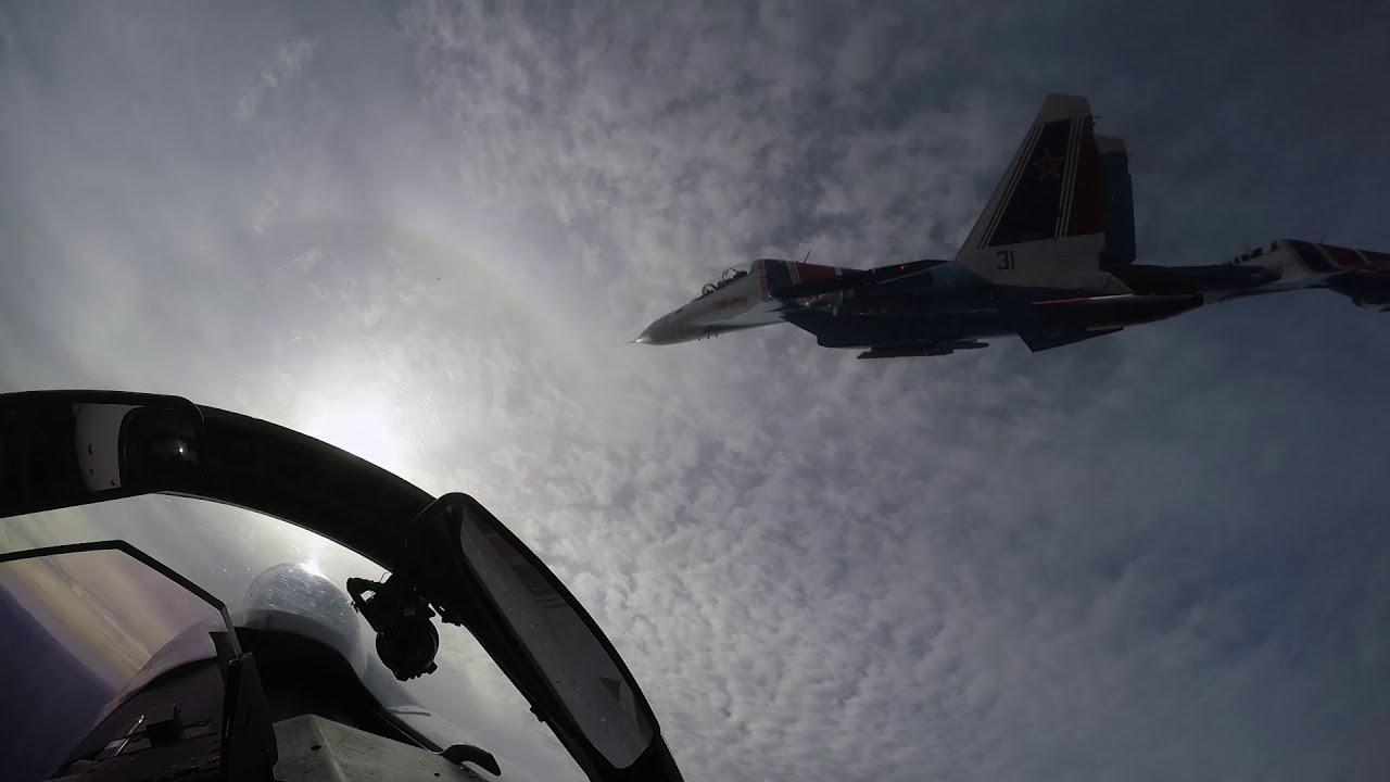 Пилотаж «Русских витязей» – вид из кабины Су-30СМ