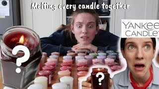 Melting Every Candle From Yankee Candle Together