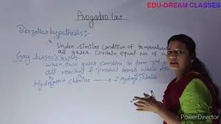 avogadro law class 11 chapter -1 part -6 by Edu-Dream classes