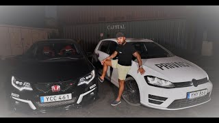 Provkör VW Golf R MK7 mot Civic Type R FK2