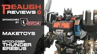 Video Review: Maketoys MTCD-03SP - THUNDER EREBUS