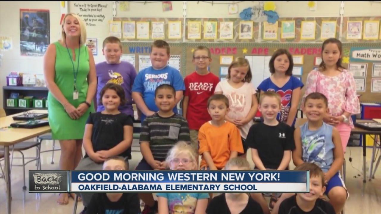 New york genesee county oakfield - Good Morning From Oakfield Alabama Elementary School Wkbw Tv Buffalo Ny