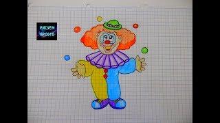 Как нарисовать КЛОУНА/181/How to draw a CLOWN