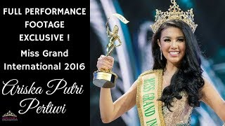Miss Grand International 2016 Ariska Putri Pertiwi's Full Performance