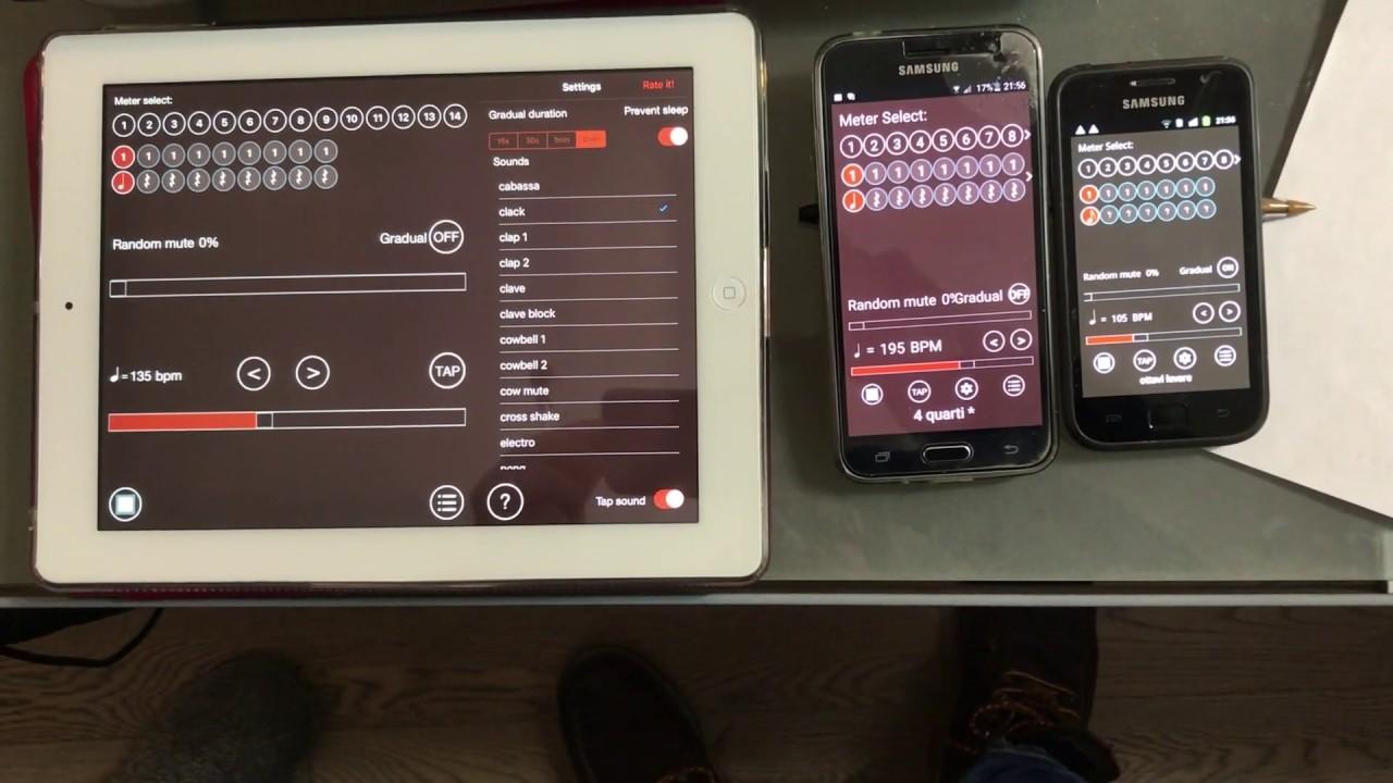 Modulazioni Metriche - 105 135 e 195 bpm sincronizzati
