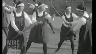 1929 Naginata, Sword & Knife Drills -Schoolgirls -Chofu-Shi -Japan