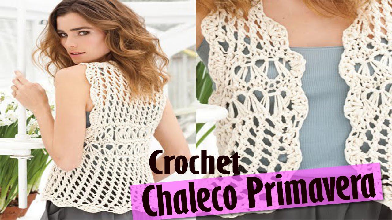Chaleco Sweater Mujer Tejido a Crochet ( Diseños Primavera Verano ...