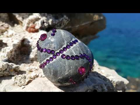 Nautillya Rosy's Moonesta Anxiety Relief Stone with Swarovski