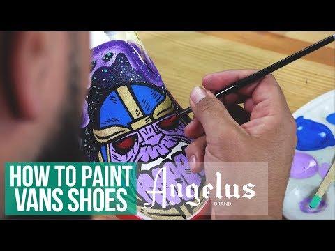 Custom Slip-On Vans   Avengers: Infinity War Inspired   Angelus Paint