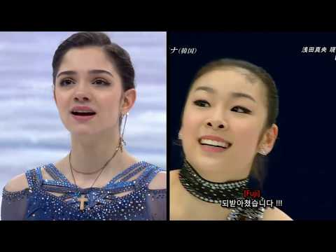 Evgenia Medvedeva Team Event 2018 SP - Queen Yuna 2010 SP - Figure Skating ISU