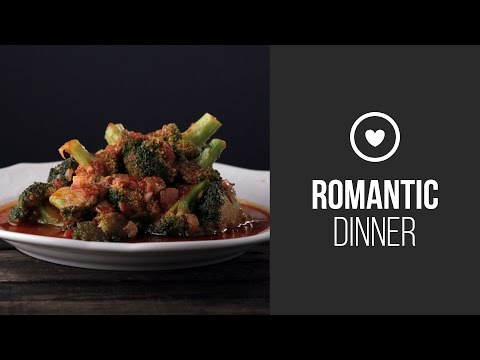 Broccoli Ragout With Hot Tomato Sauce || Around the World: Romantic Dinner || Gastrolab