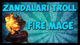 Zandalari Troll - Fire Mage - Casting Animations!!