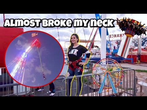 Extreme Bungee Jumping ( Arizona State Fair Carnival Games) 🎡🎢