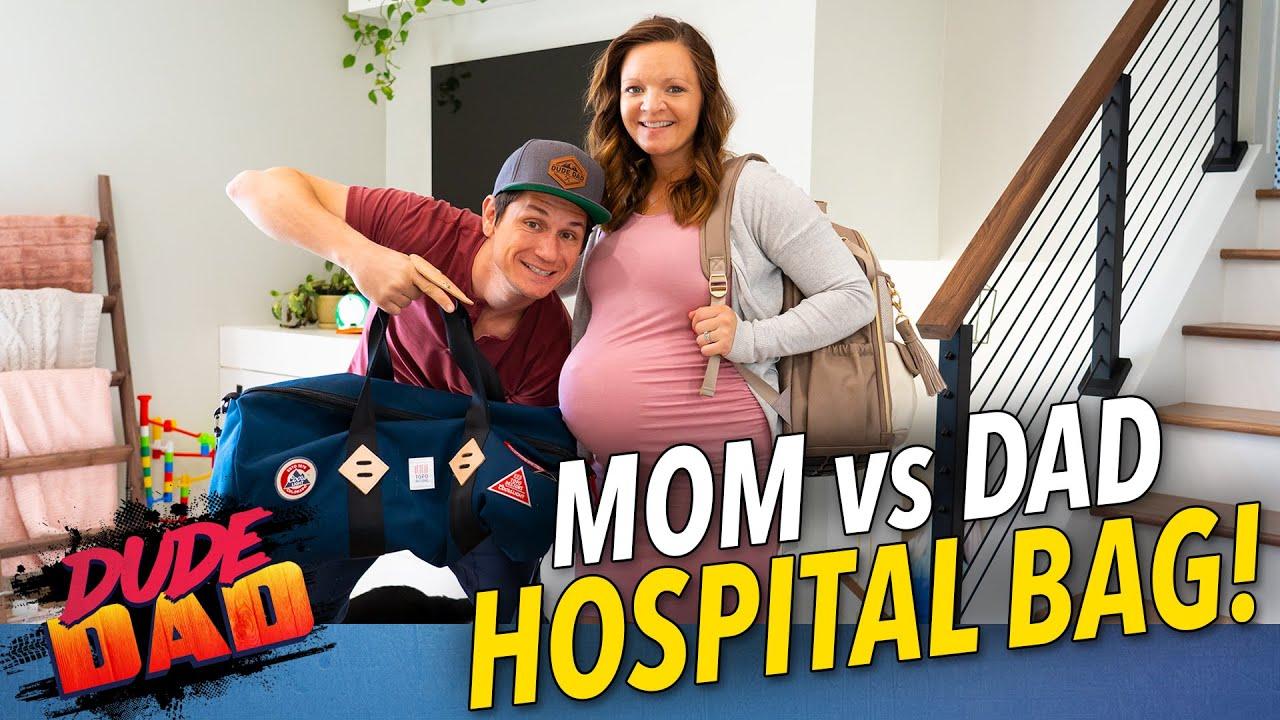 Mom vs Dad Hospital Bag