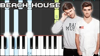 The Chainsmokers - Beach House Piano Tutorial EASY (Piano Cover)