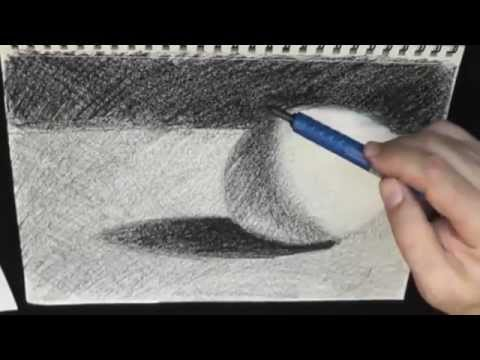 how to draw a sphere pencil cross hatching with marker and