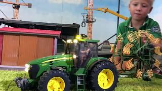 BRUDER Toys JOHN DEERE for Children bworld FARM all TRACTORS working! PART 10