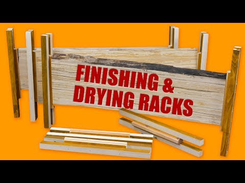 Wood Finishing and Drying Racks - Woodworking Jig