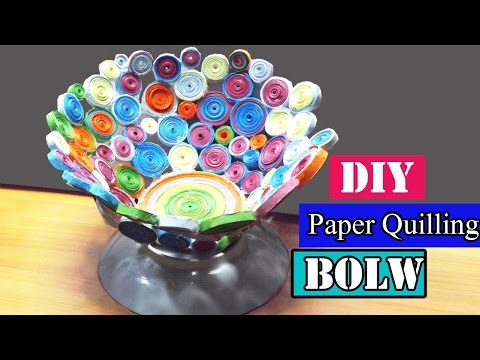 Craft with paper   DIY Paper Quilling Bowl