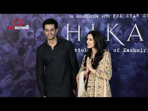 Aadil Khan and Sadia Cute Poem At Shikara Official Trailer Launch